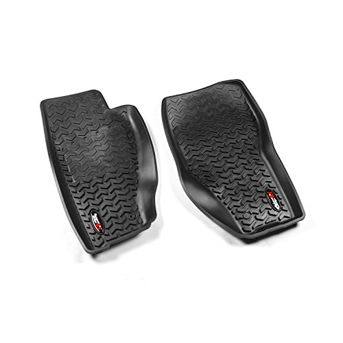 Rugged Ridge All-Terrain 12920.31 Black Front Row Floor Liner For Select Jeep Liberty ()