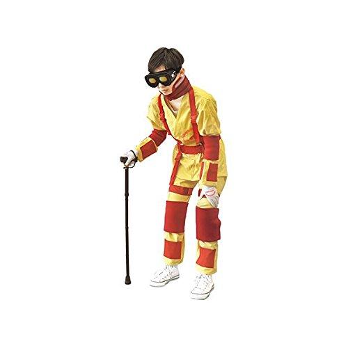 新お年寄り体験スーツ (LLサイズ/対象身長175cm~185cm) ボディスーツタイプ 各種おもり/杖/収納バッグ付き M-176-3   B077JKFDTP