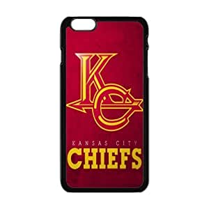 NFL kansas city chiefs Print Black Case With Hard Shell Cover for Apple iPhone 6 Plus 5.5""