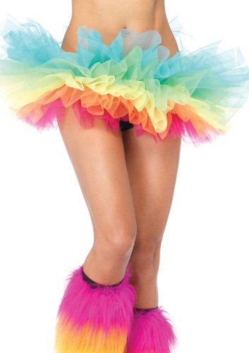 Leg Avenue Womens Rainbow Organza