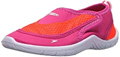 Forget trippy flip-flops and athletic shoes that take days to dry and pick up a pair of speedo's toddler surfwalker pro 2.0 water shoes. This style features a durable four-way stretch quick-to-dry comfortable upper and a adjusting strap closu...