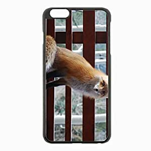iPhone 6 Plus Black Hardshell Case 5.5inch - sitting benches animal Desin Images Protector Back Cover