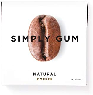 product image for Simply Gum | Natural Chewing Gum | Coffee | Pack of Six (90 Pieces Total) | Plastic Free + Aspartame Free + non GMO