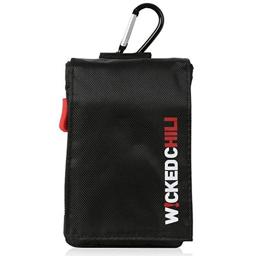 Wicked Chili Travel Case für Teasi one3 / one2 / one / Pro Pulse, Blaupunkt BikePilot, Falk Tiger - Tasche für Wander / Fahrrad Navigationsgeräte mit zusätzlichen Aufbewahrungsfächern für Zubehör