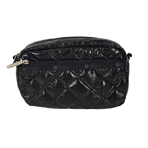 LeSportsac Dream Classic Large Zip Cosmetic Case, Black Crinkle Quilted
