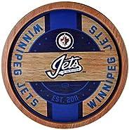 Winnipeg Jets NHL Wooden Barrel Wall Sign
