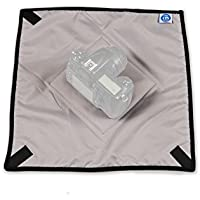 #1 Premium Medium Camera Cover from Indigo Marble, Wrap & Protect Electronic Equipment, Adjustable & Light Weight to Provide Quick Fit with SLR Straps or Slings, 15 Square with Strong External Pocket
