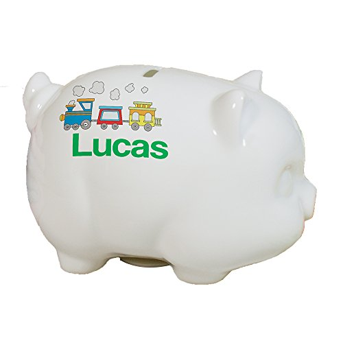 GiftsForYouNow Choo Choo Train Personalized Piggy Bank, 4