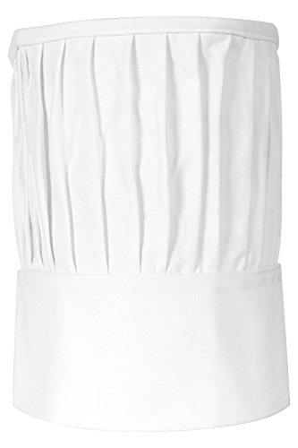 Gourmet Classics Adjustable Chef Toque Blanche, Adult Size, 100-Percent Cotton
