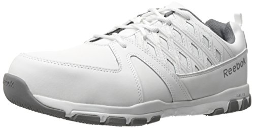 Reebok Work Men's Sublite Work RB4443 Industrial and Construction Shoe, White, 10.5 W (Toe Electrostatic Dissipating Slip)