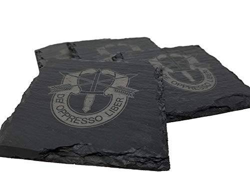 - Army Special Forces Slate Coaster Set