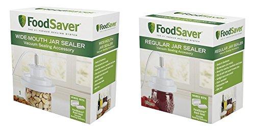 FoodSaver GameSaver Vacuum Sealer Regular & Wide Mouth Jar Sealers Accessory Kit