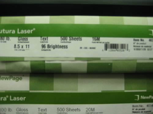 (Futura 8-1/2 x 11-Inch Laser Gloss Paper 80 lb Text)
