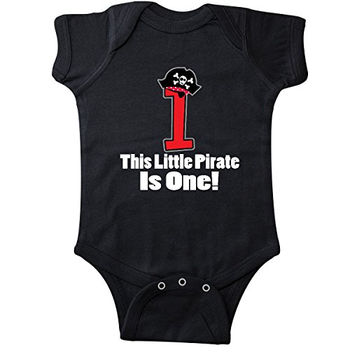 inktastic - 1st Birthday Outfit Pirate Hat Infant Creeper 18 Months Black 257a5