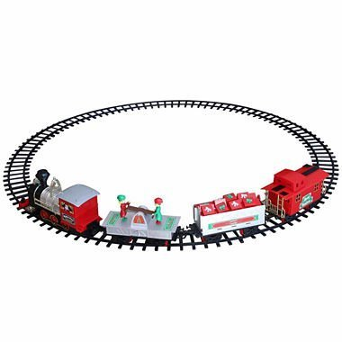 Blue Hat North Pole Junction Christmas Train Set -34 piece ()