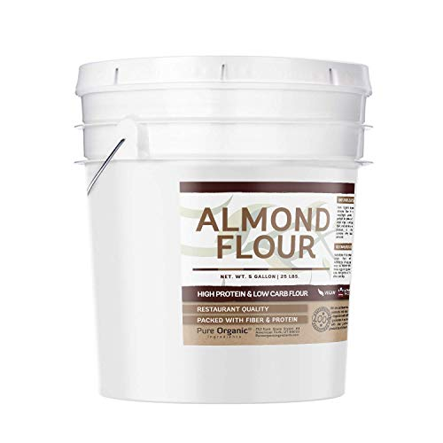 Almond Flour (5 Gallon Bucket, 25 lbs) by Pure Organic Ingredients, Gluten-Free, Blanched, Finely Ground, Vegan, Paleo & Keto Friendly, Strong Resealable Bucket (Also Available in 1 Gallon Bucket) by Pure Organic Ingredients (Image #1)