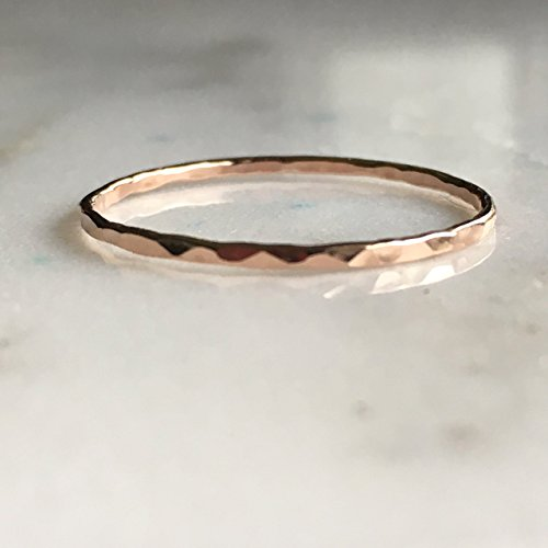 Rose Gold Filled, Dainty Little Plain Band, Size 10 ()