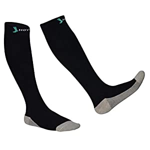 Cotton Compression Sock- Fully Cushioned Socks with Compression 20-30 mmHg for Men & Women, silver Yarn for Antimicrobial and Deodorant