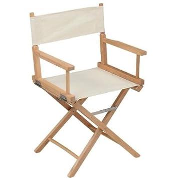 Adults 2x Canvas Directors Chair Cream Amazoncouk Kitchen Home