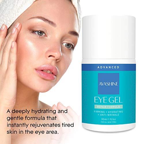 417uz2 m6bL - Avashine Natural Eye Gel for Dark Circles, Puffiness, Wrinkles and Eye Bags, Hydrating Eye Serum, Effective Anti-Aging Eye Gel for Under and Around Eyes