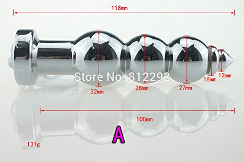 Hetam NEW Electro Sex Metal Butt Plug Electric Shock Anal Plug Sex Toys For Men And Women Electro Stimulation Anal Toys(D)