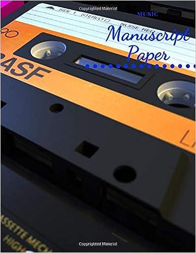 8.5x11 Standard Wirebound Manuscript Paper,Wide Staff Wirebound Manuscript Paper,paper for composing,110 Pages Music Manuscript Paper