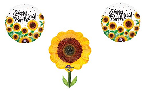 SUNFLOWERS Happy Birthday Balloons Decoration Supplies Summer Frozen 1st -