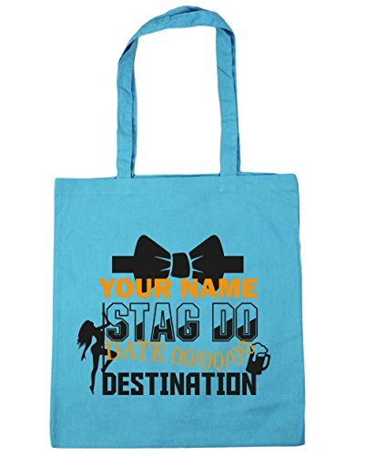 Blue Shopping Personalised HippoWarehouse Surf x38cm 42cm litres Do 10 Bag Event Tote Beach Gym Stag qHFFxX6