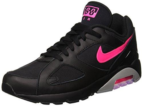 Nike Men's Air Max 180 Black/Pink Blast/Wolf Grey Running Shoe 10.5 Men - Pink Nike Air Max