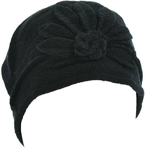264fc3390a8 Hand By Hand Aprileo Women s Wool Cloche Hat Bucket Floral Patter Winter  Vintage