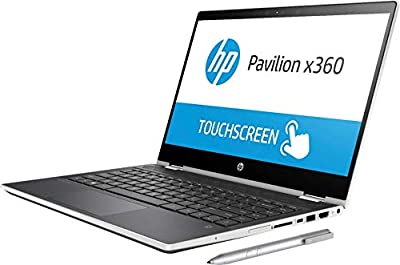 "Newest HP Pavilion x360 14"" HD WLED Touchscreen 2-in-1 Convertible Laptop, Intel Core i3-8130U up to 3.4GHz, 8GB DDR4, 128GB SSD, 802.11ac, Bluetooth, USB-C, HDMI, HP Active Stylus Pen, Windows 10 from hp"