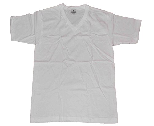 (Pro Club Men's Pack of 3 Pcs V-neck Heavyweight T-shirt 100% Cotton White (X-Large))