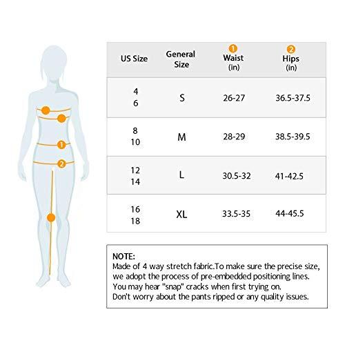 e030aac5b7 Picotee Women's Yoga Capri Pants Workout Running Pants Leggings High Waist  With Pocket (M,