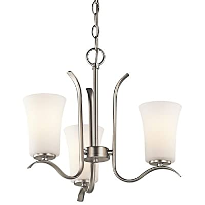 "Kichler 43073 Armida Single-Tier Mini Chandelier with 3 Lights - 72"" Chain Inclu,"