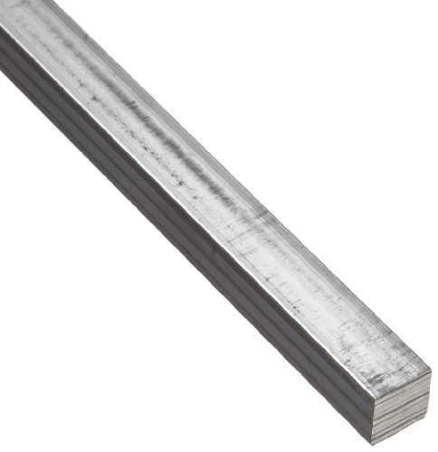 6063 Aluminum Rectangular Bar, Unpolished (Mill) Finish, T42 Temper, AMS QQ-A-200/9/ASTM B221, 5/8