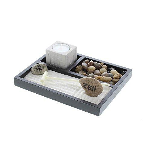 Accent Plus Zen Garden Box, Desktop Rock Decor Complete Starter Small Home Indoor Garden Kit (Sold by Case, Pack of 12)