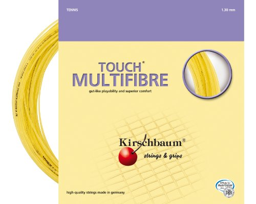 - Kirschbaum Set Touch Multifibre Tennis String, 1.30mm/16-Gauge, Natural