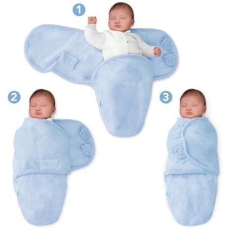 B3B Baby Gro/ß SwaddleMe 10523 Ganzk/örper Pucksack ist ideal bei Schreibabys Large Baumwolle//blau