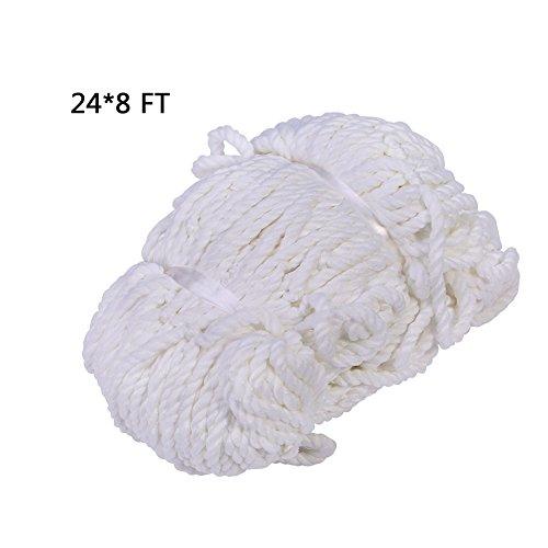 Soccer Goal Net, Full Size, 6 x 4ft / 8 x 6ft / 12 x 6ft / 24 x 8ft for Training Practice Match Training ( Size : 248 )