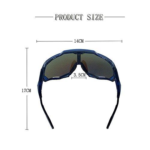 Hombres Libre Aire Sol Hombre Sol Gafas Gafas Green De De Montaña LBY para Al Deportes Gray De De Mujeres Color Gafas Y Moto de 80SxYfq
