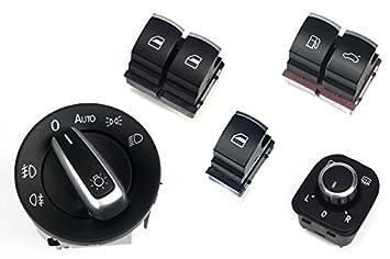 Licht Alarm Auto : Alu matt fensterheber licht spiegel tankklappen schalter: amazon