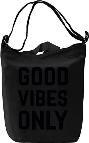 Good Vibes Borsa Giornaliera Canvas Canvas Day Bag| 100% Premium Cotton Canvas| DTG Printing|