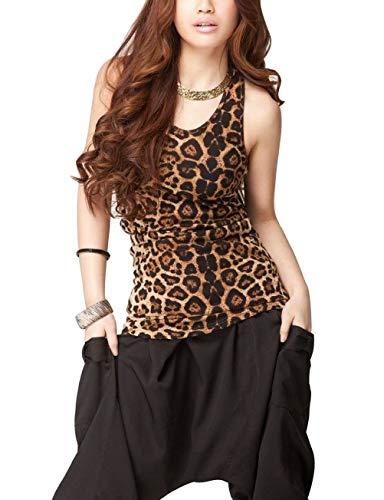 GOOCHEER Women's Leopard Sleeveless Casual Tank Tops Cami Shirts Blouse