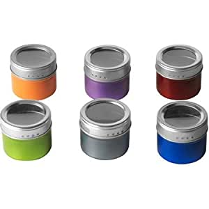 Kamenstein 6-Piece Colored Magnetic Tin Set