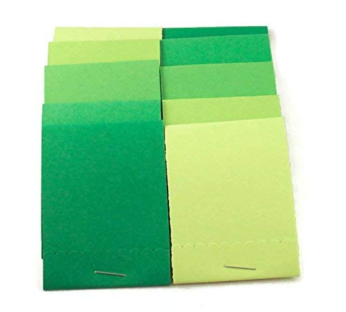 Green Notepad Set - Matchbook Notepads Party Favors in Fresh Greens Set of 20