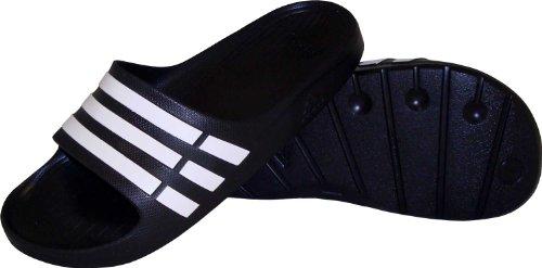- Adidas Duramo Slide Sandal Black/white/black (Men) - 11