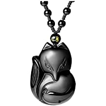 Top Plaza Hand Carved Natural Genuine Obsidian Talisman Patron Saint Buddha Head Pendant Adjustable Woven Rope Beads necklace Amulet Hanging Ornament