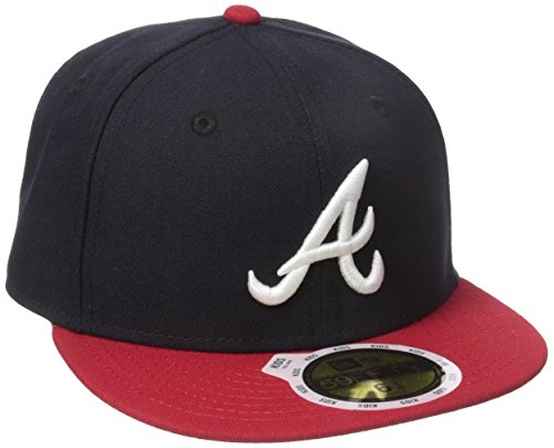 New Era Boys' 59FIFTY Authentic On-Field-Atlanta Braves Youth, Navy, 6 1/2