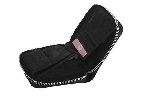 cartera mujer PIERRE CARDIN negro compacto con abertura zip