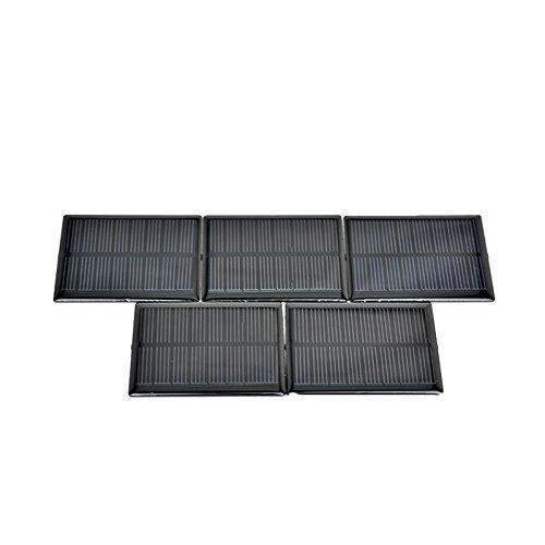 AOSHIKE 5Pcs 4V 90mA Micro Solar Panel DIY Photovoltaic Solar Cell Car Charger Lamp Light Sun Power Sunpower Solar Charger 63x63mm(F) by AOSHIKE (Image #4)